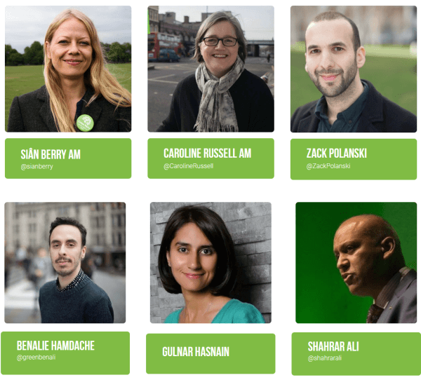 green am candidates list 1