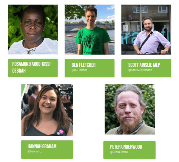green am candidates list 2
